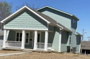 Home on Everett Street Painted Blue